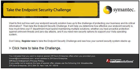 Symantec E-Mail Not Up to the Challenge - The Point