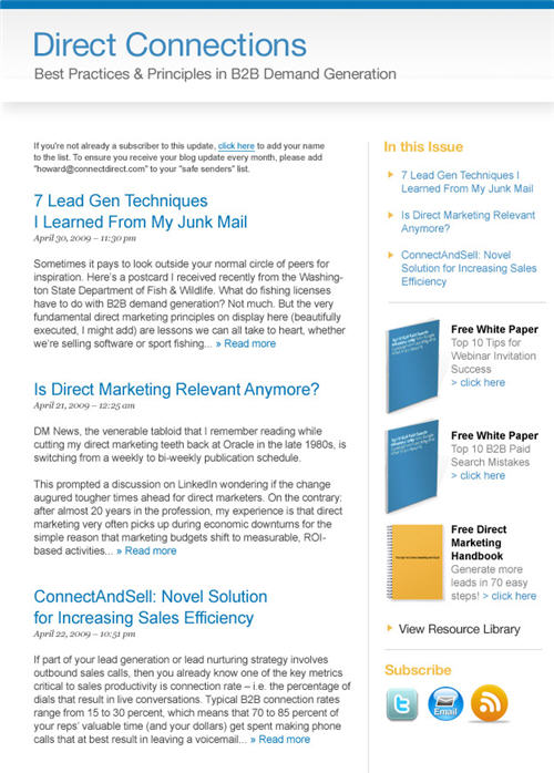 cdi blog email template