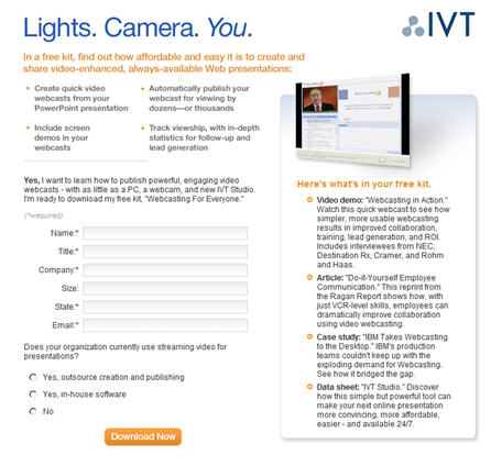 ivt landing page