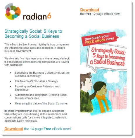 Radian6 Email Campaign Hits the Mark - The Point