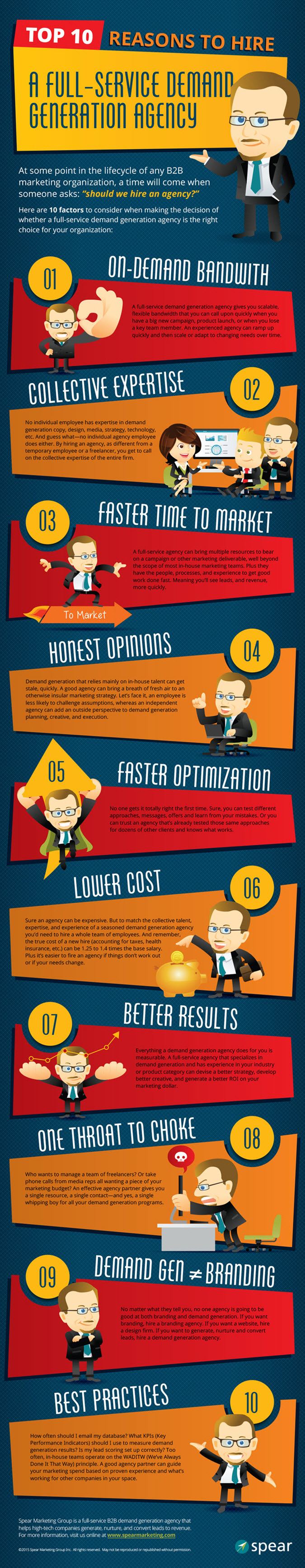 10 Reasons to Hire a Full-Service Demand Gen Agency Infographic