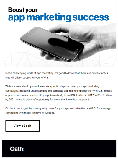 B2B email creative