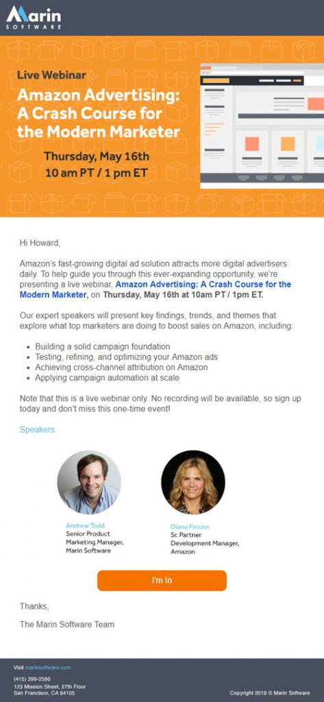 Marin Software Webinar Invitation